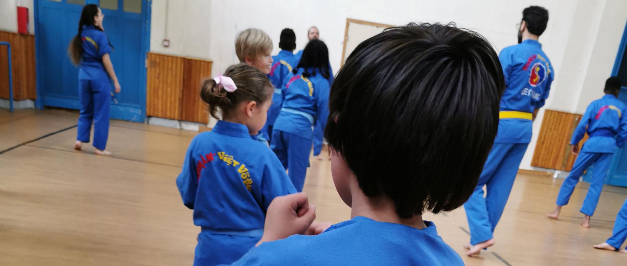 Cours enfants à Vovinam Rosny
