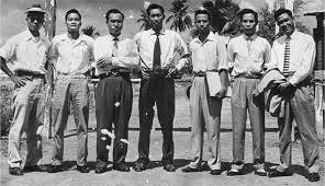 Maître Nguyễn Lộc et ses premiers disciples
